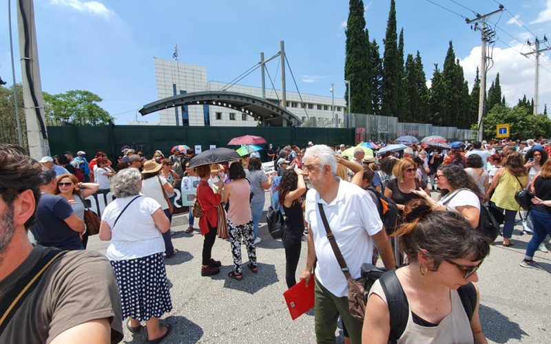 Εντυπωσιακή η συμμετοχή των εκπαιδευτικών στο συλλαλητήριο ενάντια στις αλλαγές στο ωρολόγιο πρόγραμμα